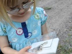 Flicka med fjäril, Åsvik. Foto: Andreas Wallberg
